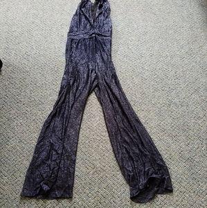 Rachel Zoe navy blue sparkle jumpsuit